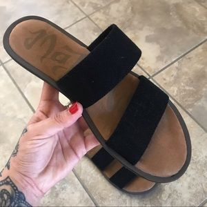 Stretchy Band Slip On Sandals